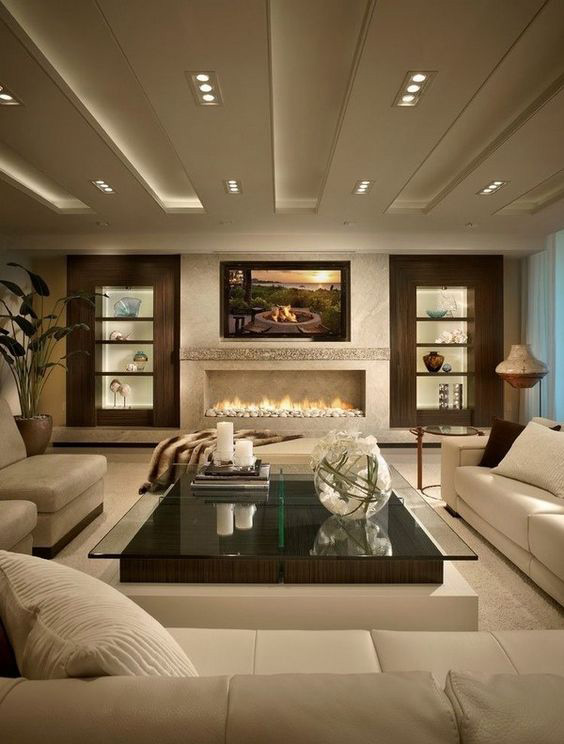 Brown And Beige Color Adjustment In Living Room Cosmicdecor