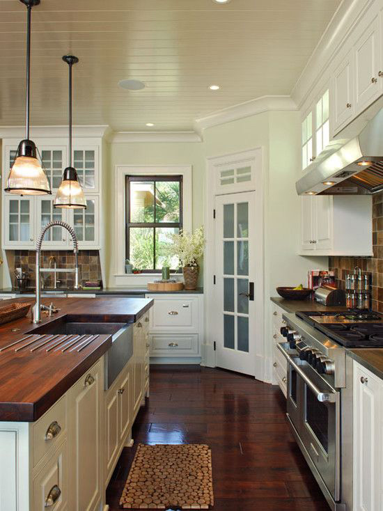 Intimate And Elegant Wooden Kitchen Countertops Cosmicdecor
