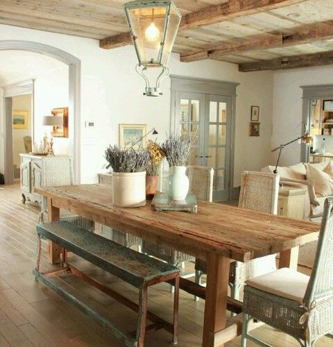 COUNTRY STYLE DINING ROOM DESIGN