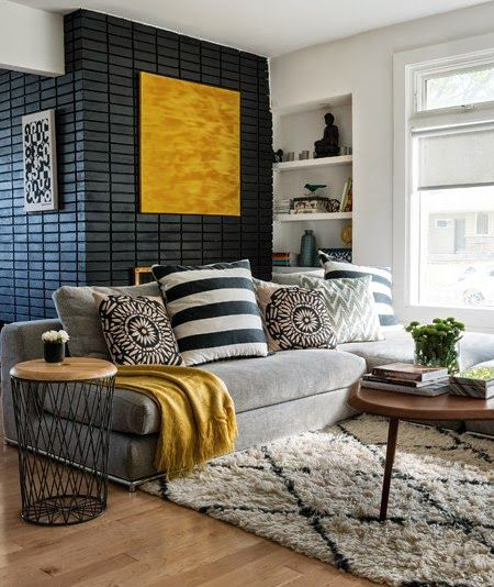 What Do You Say To Add A Black Color To A Living Room Decorated In Gray And Yellow  Colors? You Can Add A Warm Atmosphere With The Yellow Color While You Are  ...