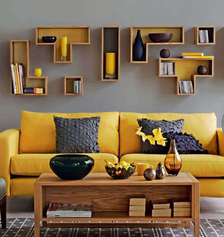 Surprising Gray Yellow Living Room Decoration Cosmicdecor Pdpeps Interior Chair Design Pdpepsorg