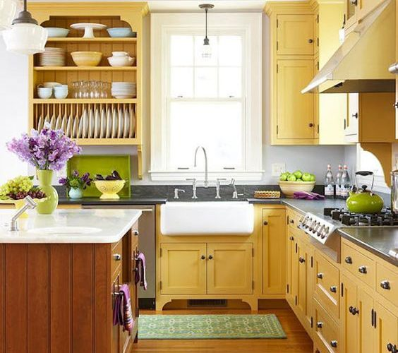 USEFUL COLOR SELECTION IN KITCHEN CABINETS