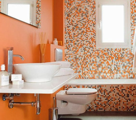 SAY HELLO TO THE ORANGE BAHTROOMS